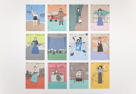 [디자인 스튜디오의 일일] 여성들의 '봄'을 위하여, 봄알람 -2